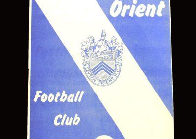 Middlesbrough v Leyton Orient 29.12.1965 (postponed)