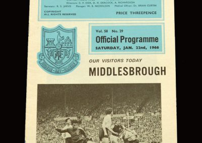 Middlesbrough v Spurs 22.01.1966 - FA Cup 3rd Round