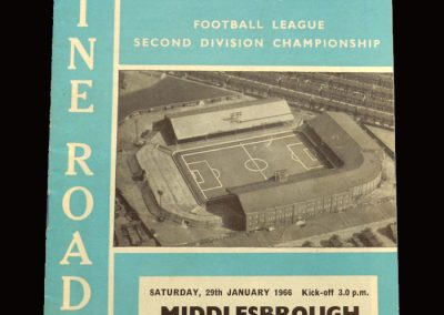 Middlesbrough v Man City 29.01.1966