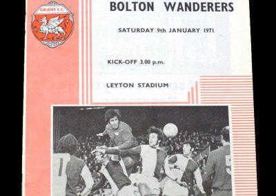 Leyton Orient v Bolton 09.01.1971