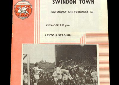 Leyton Orient v Swindon 13.02.1971