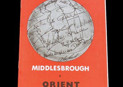 Leyton Orient v Middlesbrough 20.03.1971