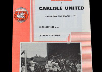 Leyton Orient v Carlisle 27.03.1971