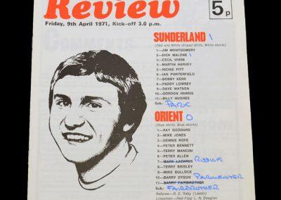 Leyton Orient v Sunderland 09.04.1971