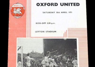 Leyton Orient v Oxford 10.04.1971