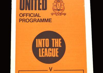 Cambridge v Southport 12.09.1970