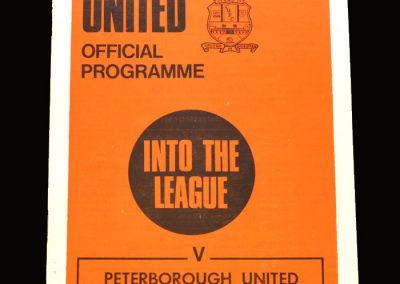Cambridge v Peterborough 10.10.1970