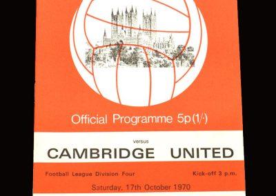 Cambridge v Lincoln 17.10.1970
