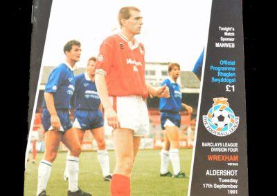 Aldershot v Wrexham 17.09.1991