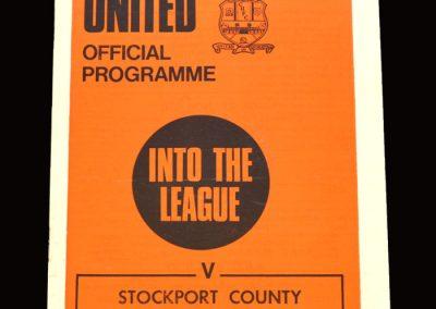 Cambridge v Stockport 19.10.1970