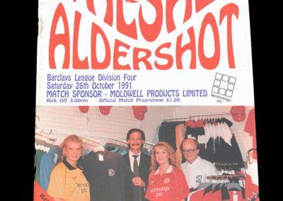 Aldershot v Walsall 26.10.1991