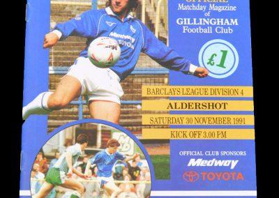 Aldershot v Gillingham 30.11.1991