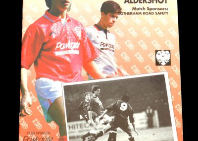 Aldershot v Rotherham 01.02.1992