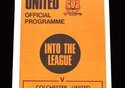 Cambridge v Colchester 05.12.1970