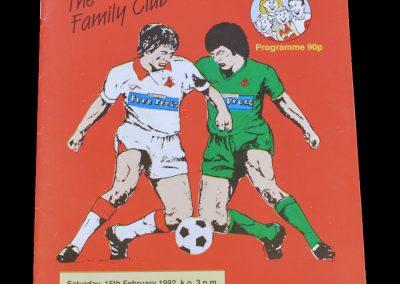 Aldershot v Doncaster 15.02.1992