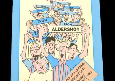 Aldershot v Scunthorpe 29.02.1992