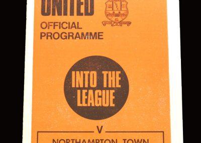 Cambridge v Northampton 19.12.1970