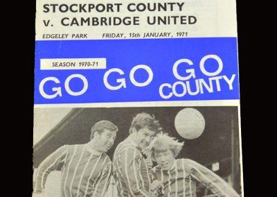 Cambridge v Stockport 15.01.1971