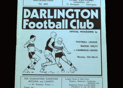 Cambridge v Darlington 15.03.1971