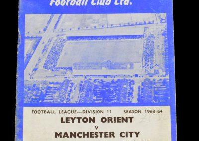 Man City v Leyton Orient 07.12.1963