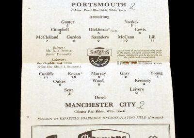 Man City v Portsmouth 14.12.1963