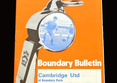 Cambridge v Oldham 03.04.1971