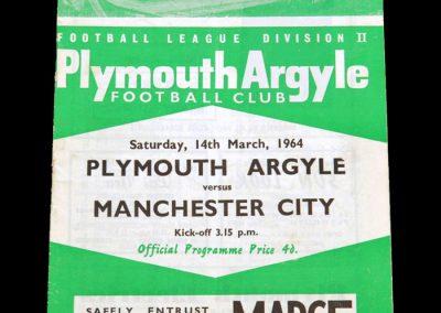 Man City v Plymouth 14.03.1964