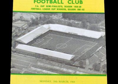 Man City v Norwich 30.03.1964