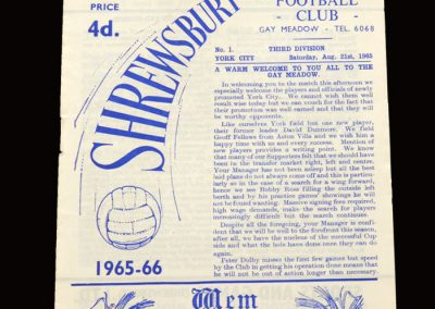 Shrewsbury v York 21.08.1965