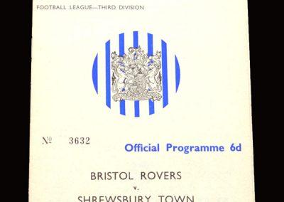 Shrewsbury v Bristol Rovers 24.08.1965