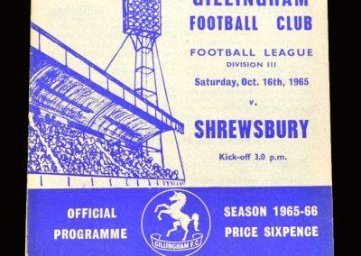 Shrewsbury v Gillingham 16.10.1965