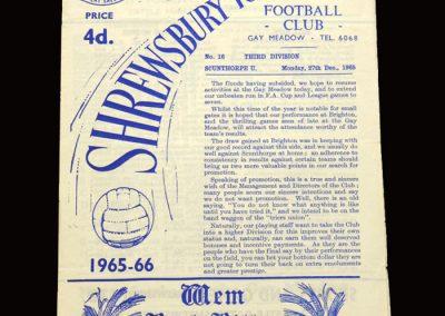 Shrewsbury v Scunthorpe 27.12.1965