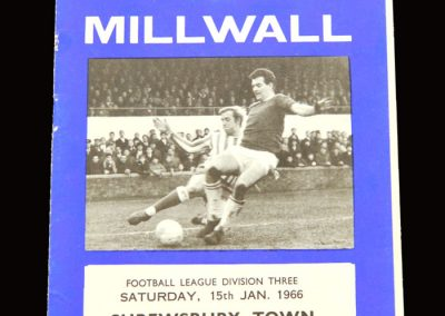 Shrewsbury v Millwall 15.01.1966