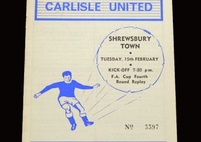 Shrewsbury v Carlisle 15.02.1966 - FA Cup 4th Round Replay