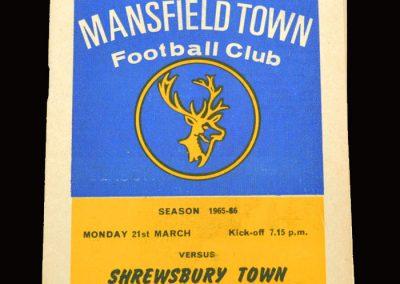 Shrewsbury v Mansfield 21.03.1966