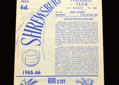 Shrewsbury v Brighton 6.05.1966 [thanks David]