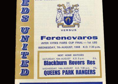 Leeds v Ferencvaros 07.08.1968 - Fairs Cup Final