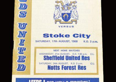 Leeds v Stoke 17.08.1968