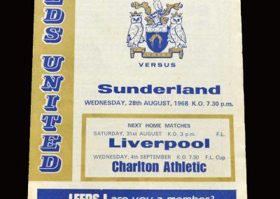 Leeds v Sunderland 28.08.1968