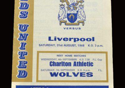 Leeds v Liverpool 31.08.1968