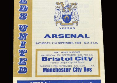 Leeds v Arsenal 21.09.1968