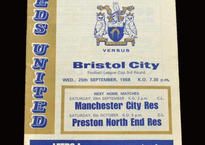 Leeds v Bristol City 25.09.1968