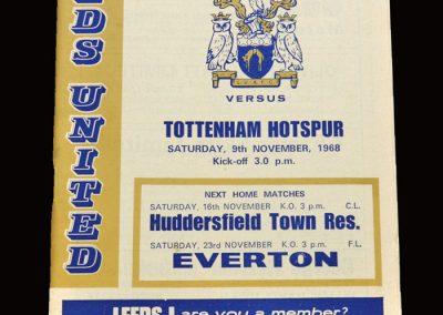 Leeds v Spurs 09.11.1968