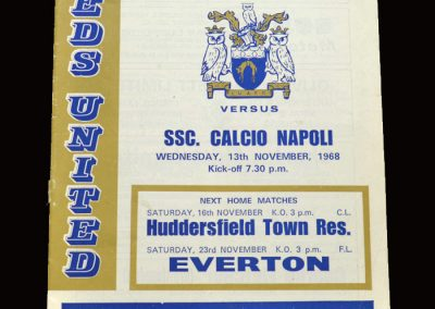 Leeds v Napoli 13.11.1968 - Fairs Cup 2nd Round 1st Leg