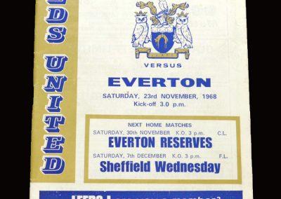 Leeds v Everton 23.11.1968