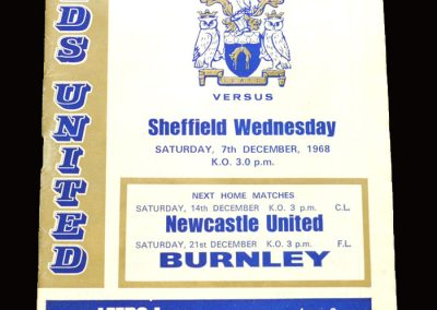 Leeds v Sheff Wed 07.12.1968