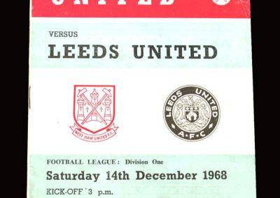 Leeds v West Ham 14.12.1968