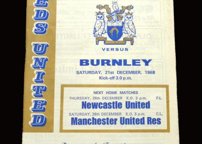 Leeds v Burnley 21.12.1968
