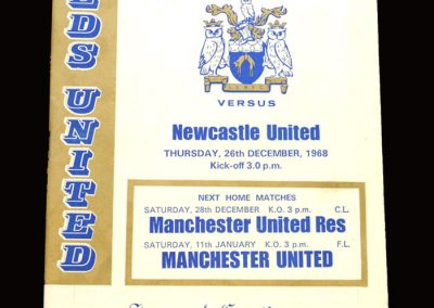 Leeds v Newcastle 26.12.1968