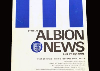 Leeds v West Brom 28.12.1968 (postponed)